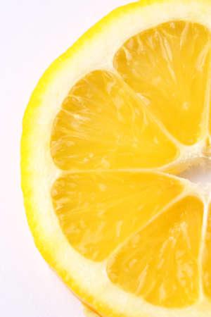 closeup macro shot of half a lemon photo