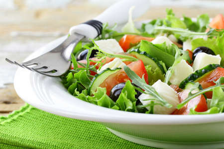 Salatka Grecka z Feta sa Atka Grecka z Oliwkami