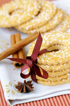 Sugar round cookies with spices  Stock Photo - 13540654
