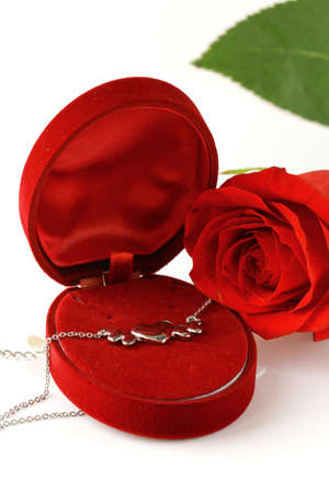 fresh roses and gifts for the holiday Valentines Day photo