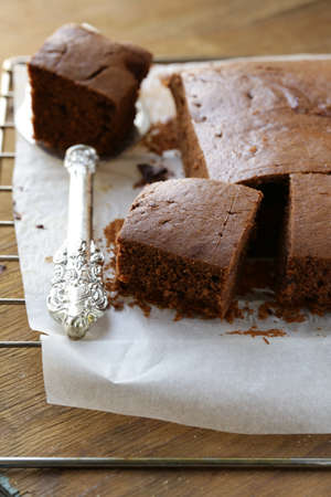 Delicious homemade chocolate cake brownie  photo