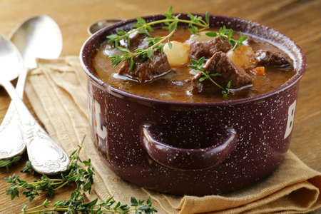 goulash: Traditional french beef goulash - Boeuf bourguignon