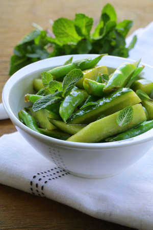 salad with cucumbers and green beans Stock Photo - 17593927