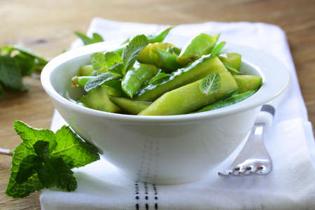 salad with cucumbers and green beans Stock Photo - 17593908