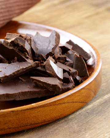 endorphines: black dark chocolate chopped into pieces