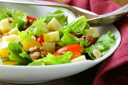 snack salad with cheese and walnuts Stock Photo - 19862795