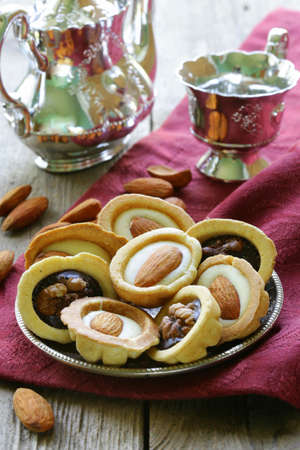 cookies with almonds and walnuts nuts Stock Photo - 20144264