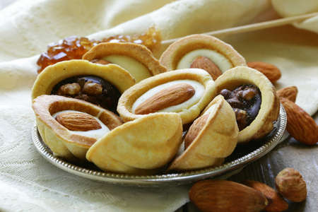 cookies with almonds and walnuts nuts Stock Photo - 20144261