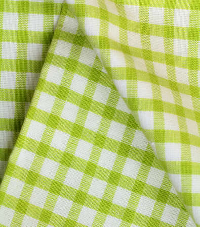 kitchen towel in the green checkered -  use as a background photo