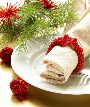 Festliche Weihnachten Tabelle Einstellung Lizenzfreie Bilder