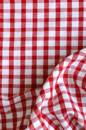 kitchen towel in the red checkered - use as a background photo