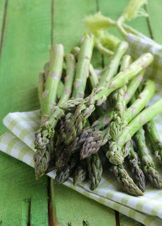 bunch of fresh organic green asparagus