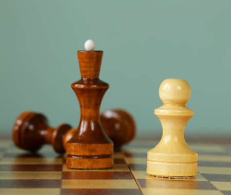 preferment: chess position - pawn standing in a position of checkmate