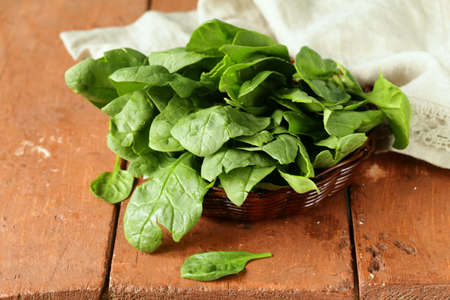 wholesome: fresh green spinach organic healthy and wholesome food