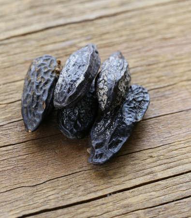 fragrant tonka bean, vanilla flavor used for baking  Stock Photo