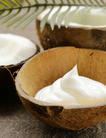 moisturizer natural coconut cream for face and body photo