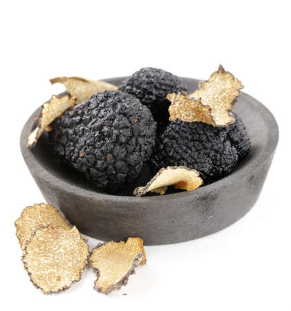 expensive: expensive rare black truffle mushroom - gourmet vegetable