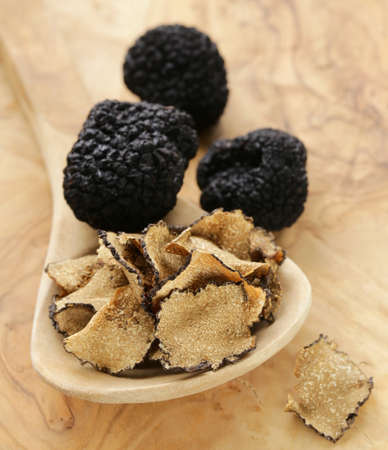 expensive rare black truffle mushroom - gourmet vegetable