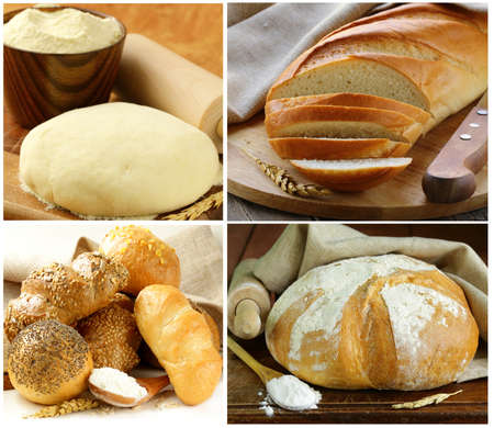 Set assortment of bread, rye and white photo