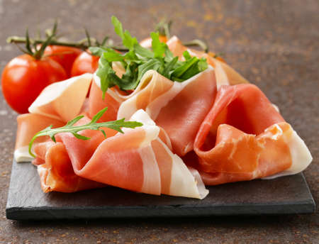 parma ham (jamon) traditional Italian meat specialties 版權商用圖片 - 35578622