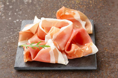 parma ham (jamon) traditional Italian meat specialties Banque d'images