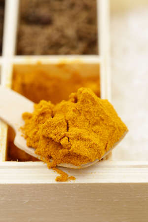 indian mustard: Macro shot of fragrant spices for seasoning food