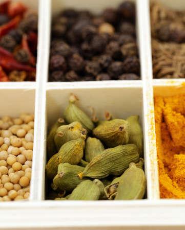 seasoning: Macro shot of fragrant spices for seasoning food