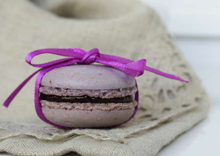 almond biscuit: French dessert almond biscuit macaroon