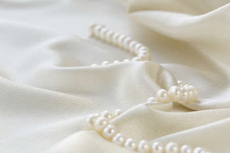 silk fabric with pearls - luxury background