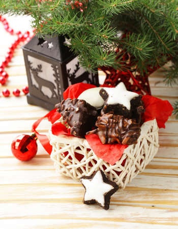 traditional christmas: Traditional Christmas cookies for gift and dessert Stock Photo
