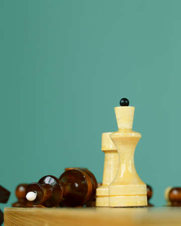 purposeful: chess position - pawn standing in a position of checkmate Stock Photo