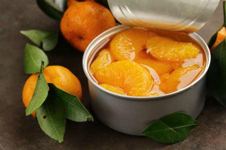 sweet segments: natural organic canned mandarin orange in syrup