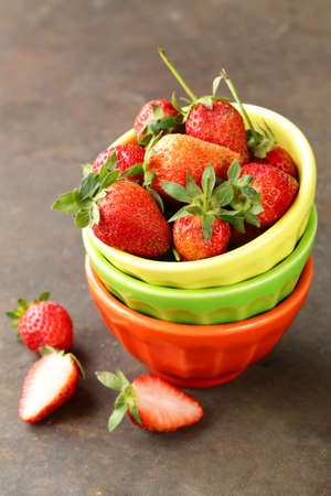 ripe juicy organic berries strawberry