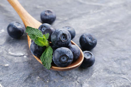Natural organic berry ripe and juicy blueberries