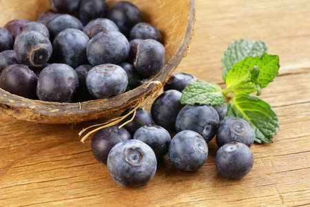 juicy: Natural organic berry ripe and juicy blueberries