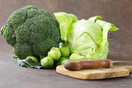 broccoli: different kinds of cabbage - broccoli, Brussels sprouts and white cabbage