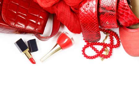 accesorios de moda para las mujeres - bolso, pañuelo, cinturón y joyas