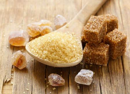 brown cane sugar (refined sugar and granulated sugar) Stock Photo