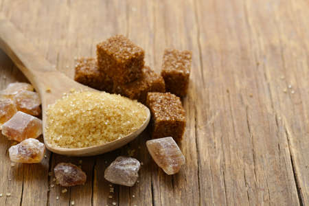 refined: brown cane sugar (refined and granulated sugar) Stock Photo