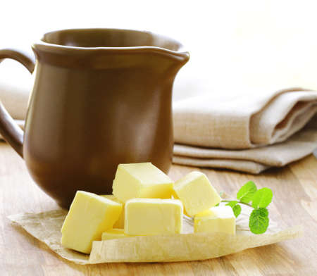 natural organic butter, dairy product Stock Photo