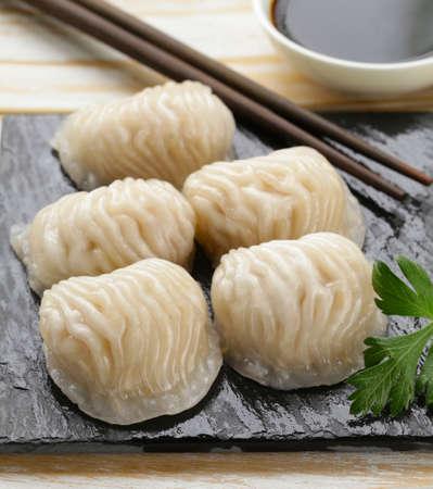 dim: Asian dumplings (Dim Sum) Stock Photo