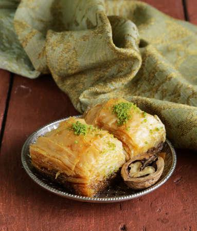 baklava: traditional Turkish Arabic sweets baklava