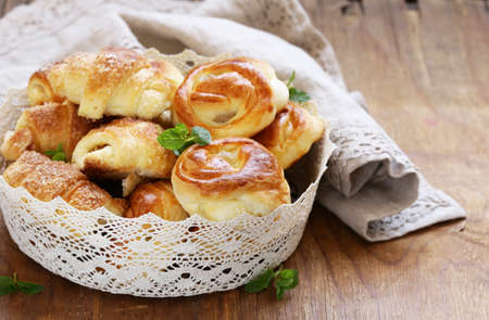 sweet treats: Homemade pastries, muffins, sweet buns for Easter treats