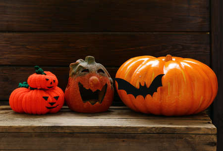 The composition decor for Halloween holiday Stock Photo