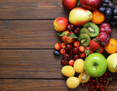 Different fruits and berries, healthy food