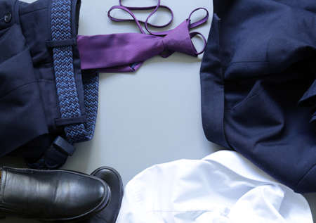 Classic style - shoes, shirt, tie, trousers