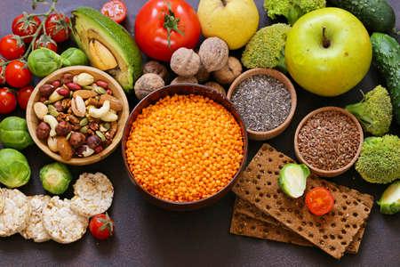 vegetarian food products - nuts, seeds, vegetables