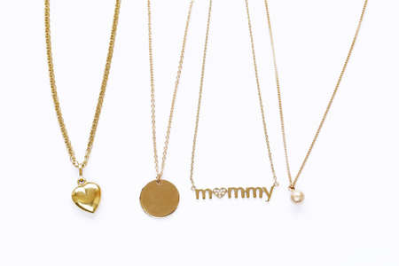 gold chains necklaces with pendants