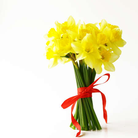 bouquet spring yellow flowers daffodils