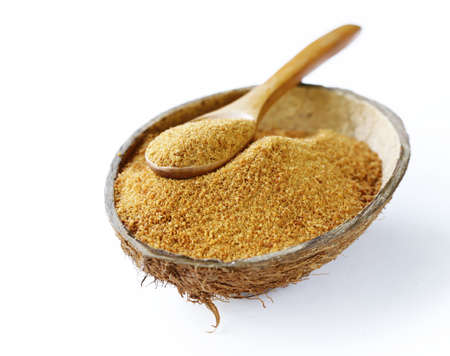 natural organic coconut sugar 版權商用圖片